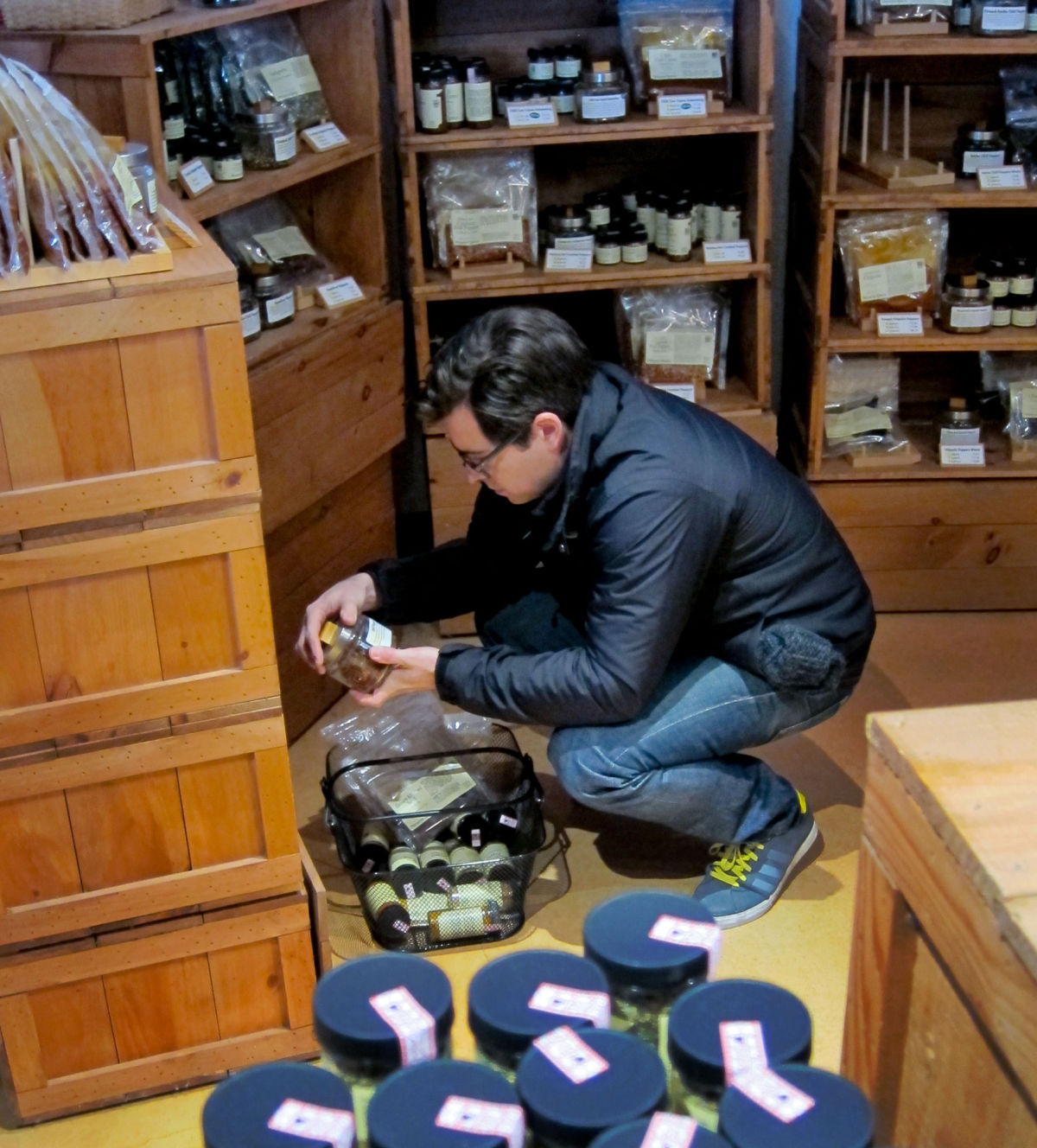 Eric looking at Spices