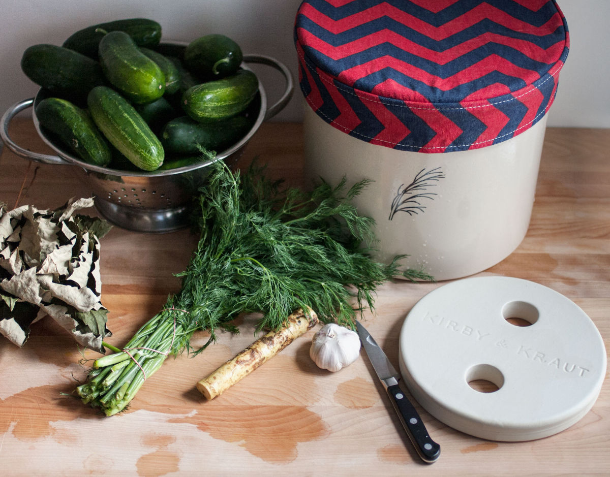 Pickle Log: Kosher dill pickles with garlic and horseradish - Kirby ...