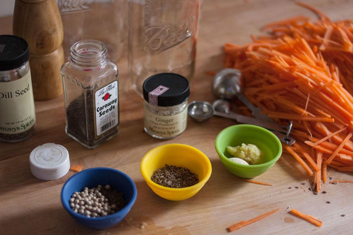 Pickled carrots three ways