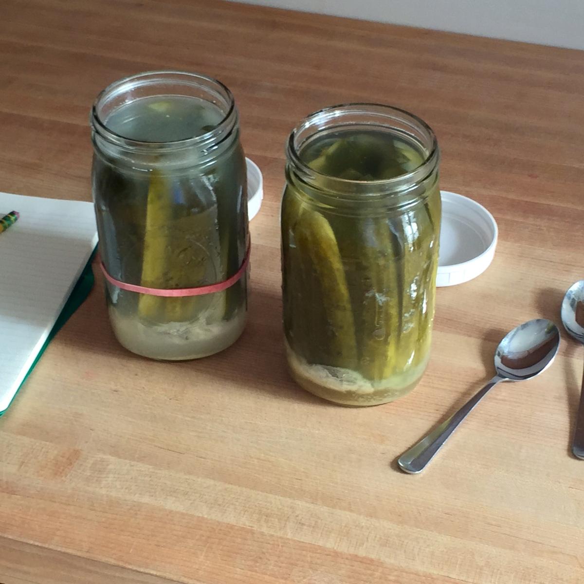 Tasting pickle brine