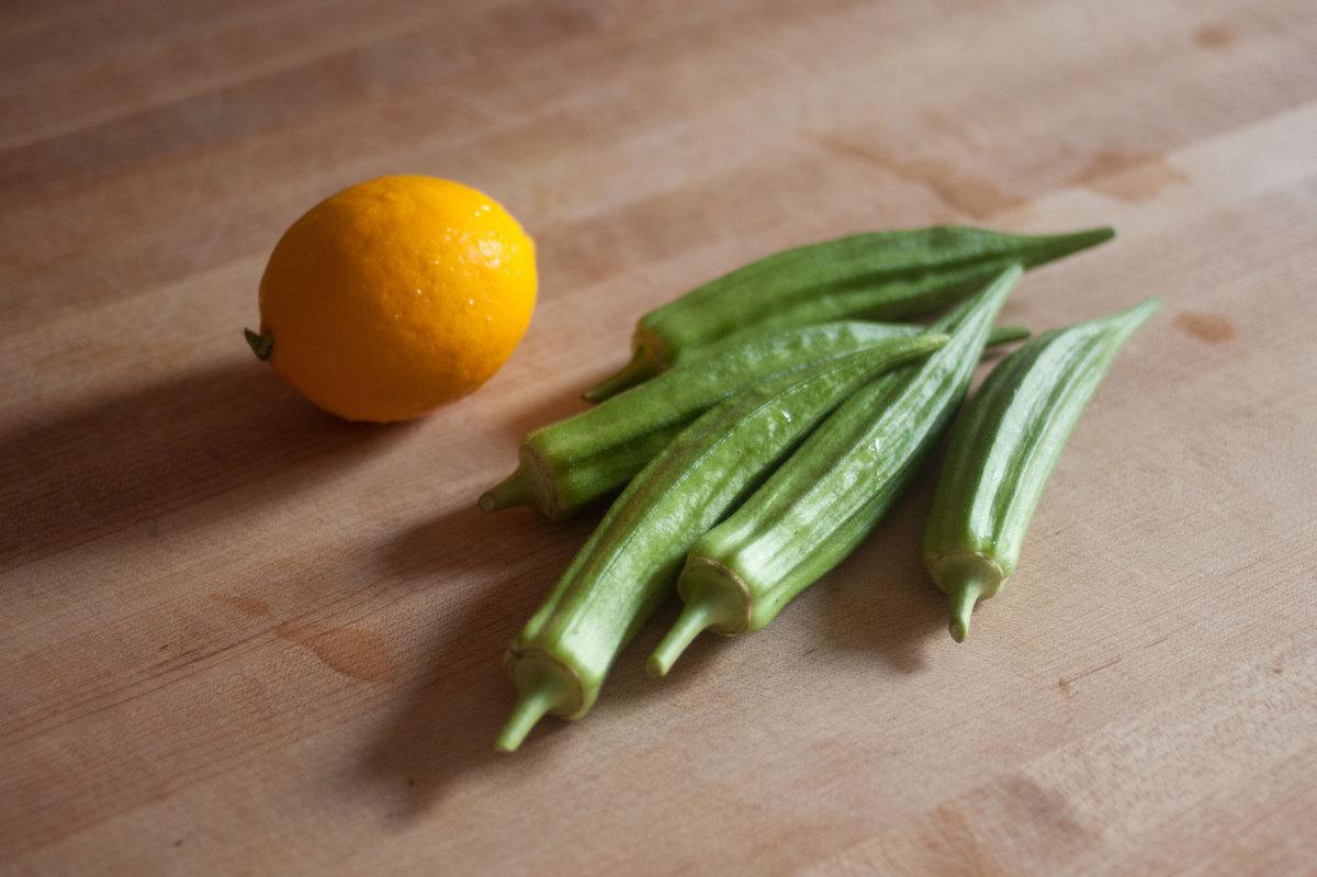 Okra for pickling