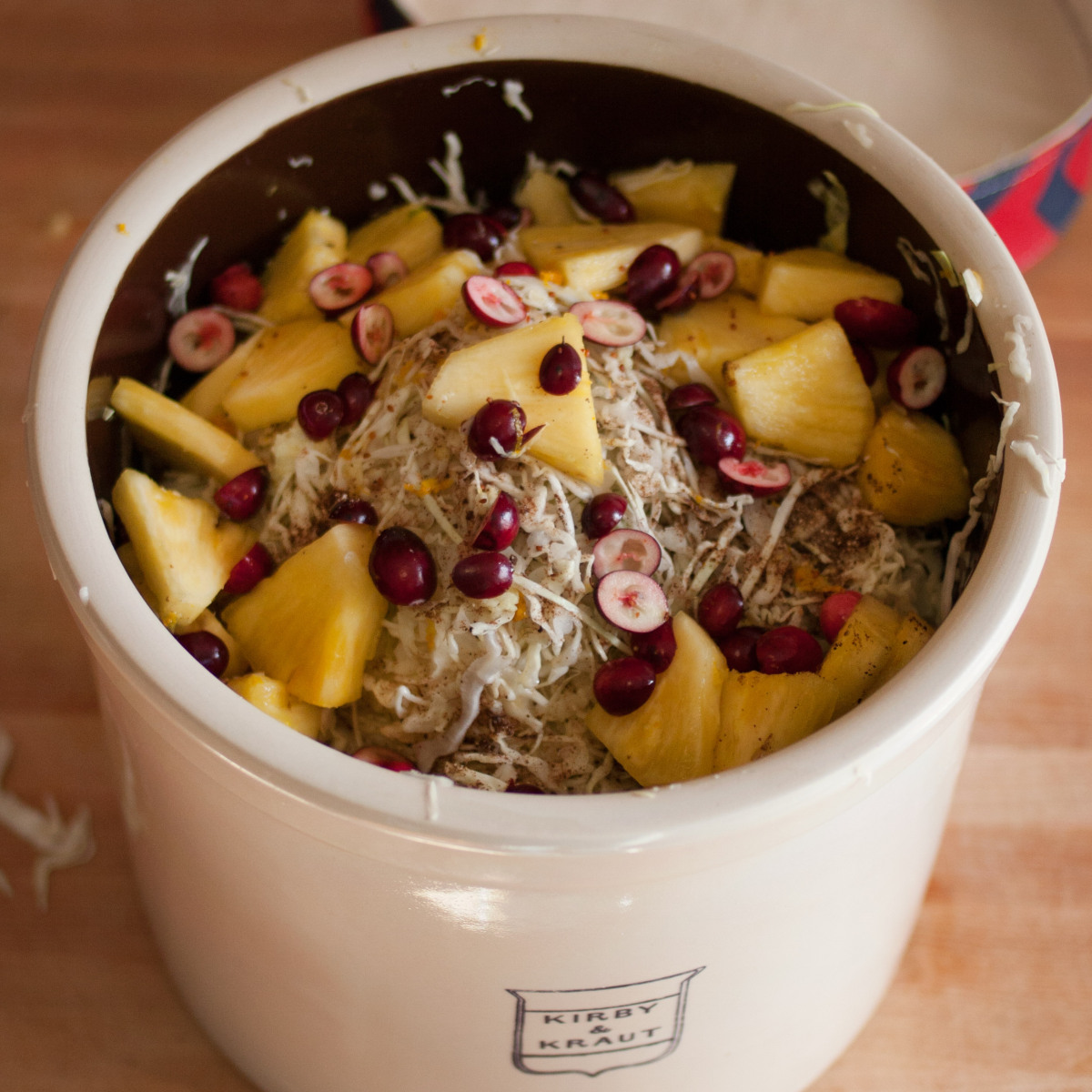 Yule Kraut with pineapples and cranberries