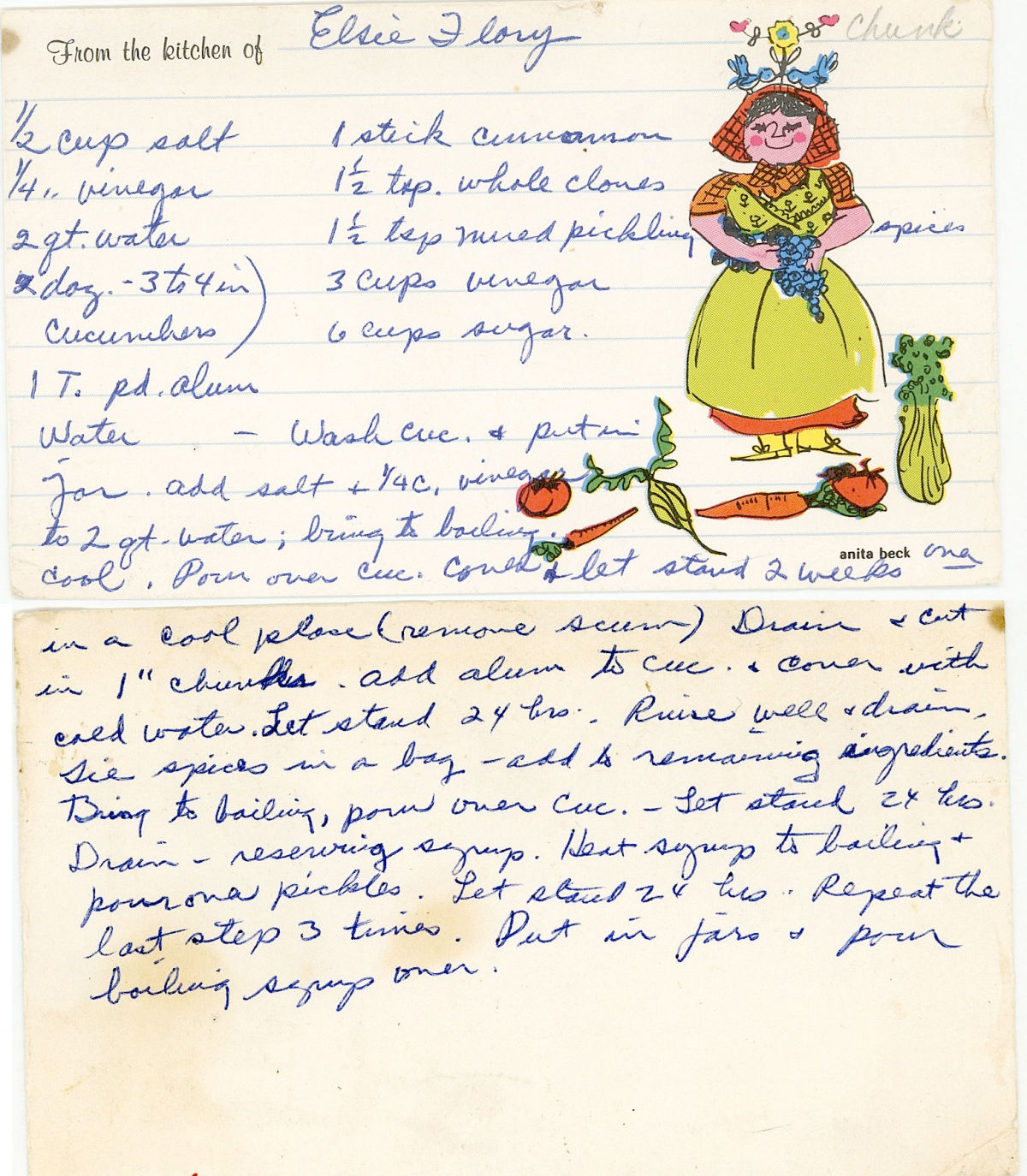 Vintage chunk pickle recipe