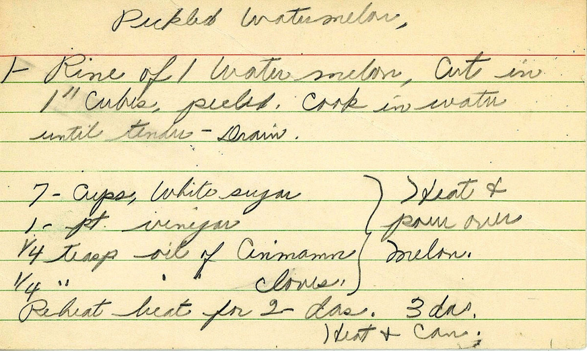 Vintage pickled watermelon recipe