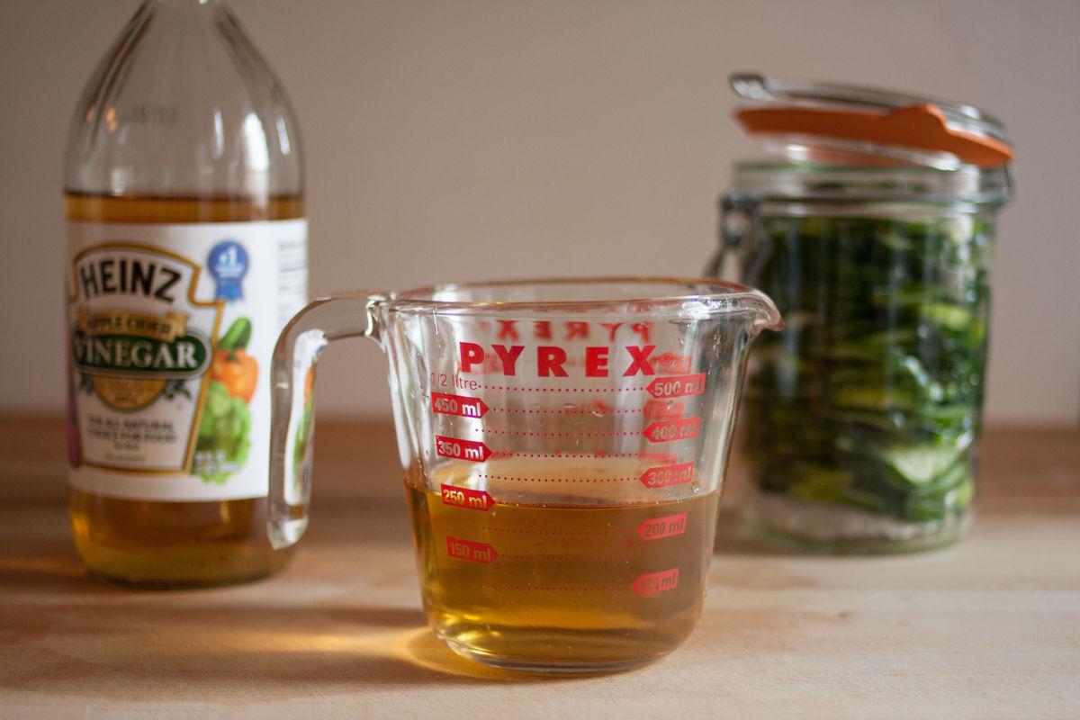 Cider vinegar for refrigerator pickles