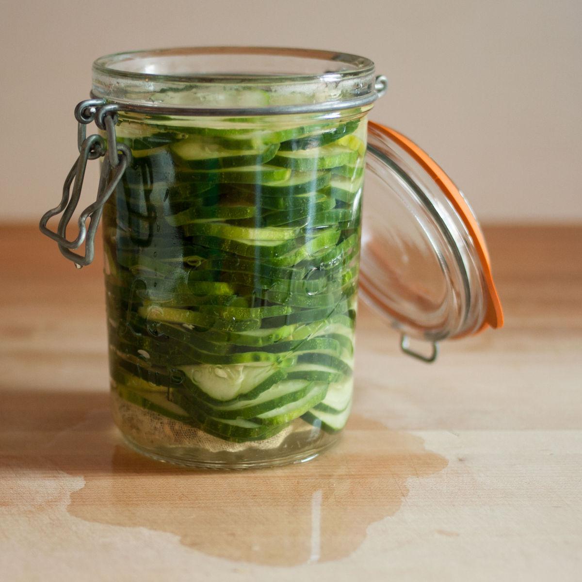 Finsihed refrigerator pickles